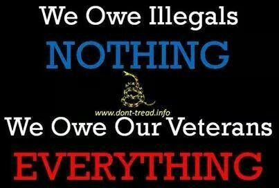 Image result for veterans before illegals