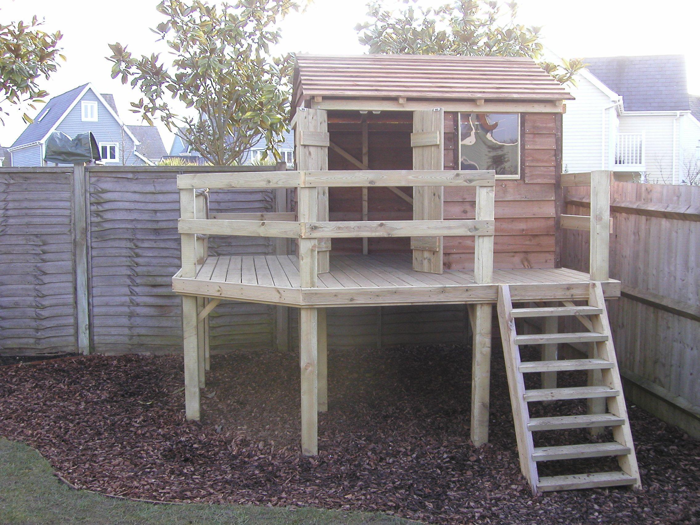 Simple Backyard Fort For Kids Pinterest