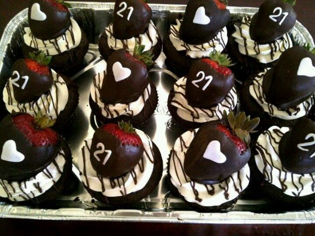 21st birthday cupcakes fun ideas pinterest