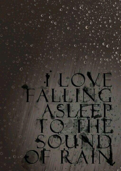 Sound of rain........