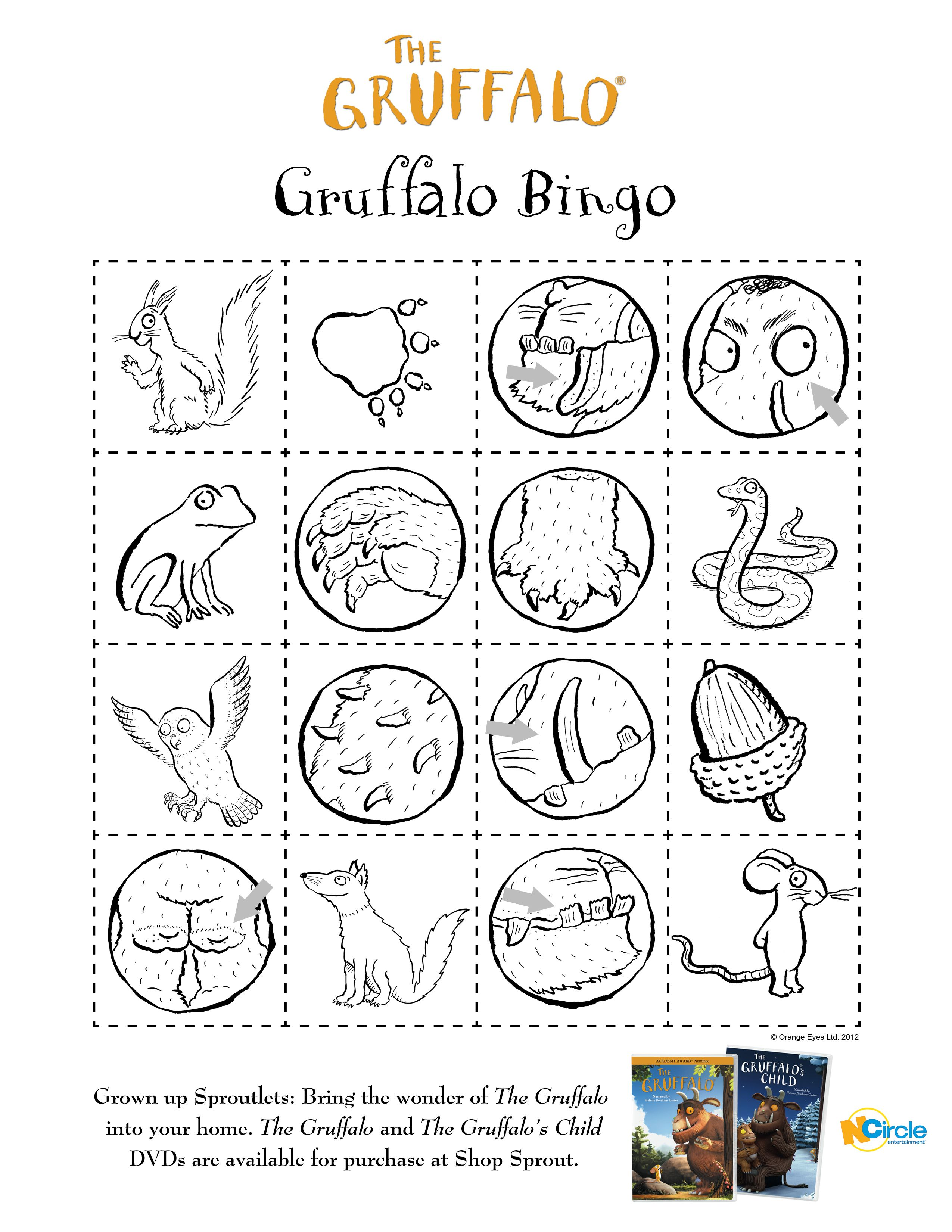 Gruffalo Colouring Sheets Printable Sketch Coloring Page
