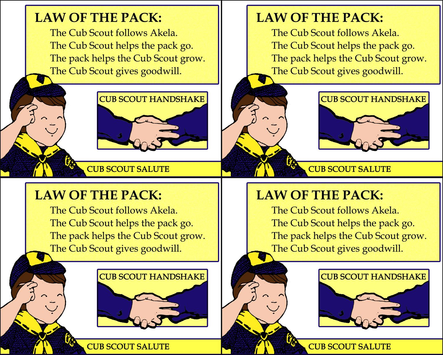 The Pack Scouts And Law