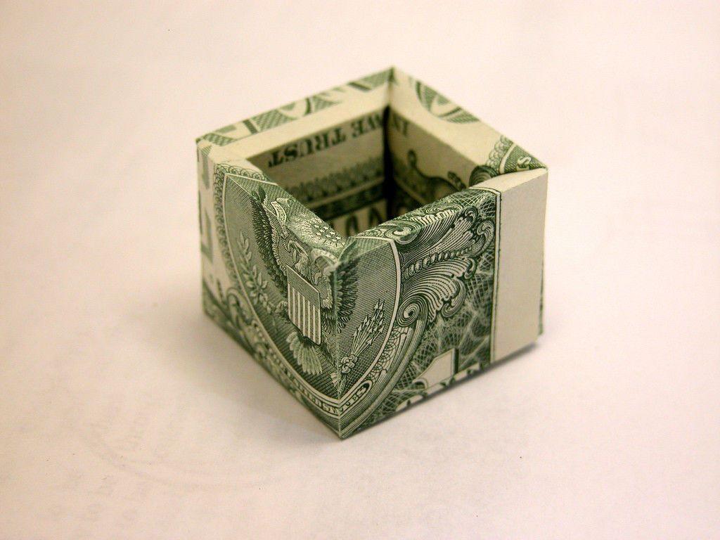 3d box money origami money dollar origami pinterest