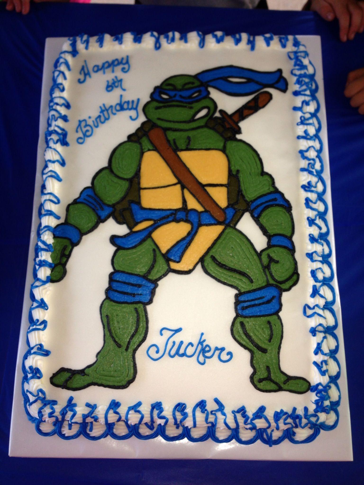 Leonardo Ninja Turtle Cakes Ideas