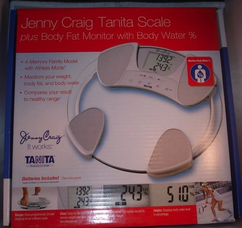 Jenny Craig Tanita Scale--Measures Weight, Body Fat & Hydration Levels #BF-592J