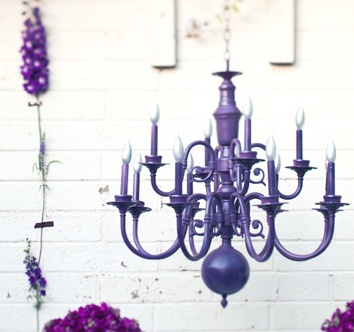 Spray paint a chandelier