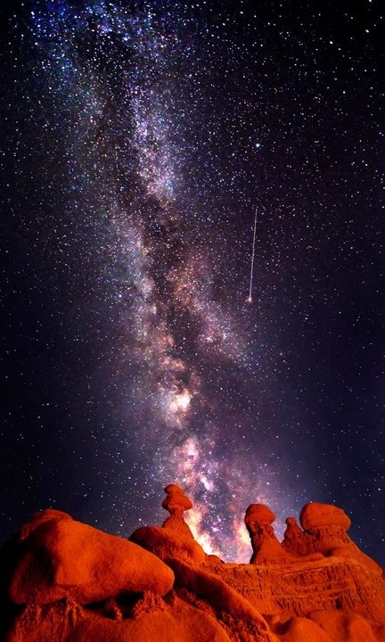 A look into the center of the Milky Way Galaxy from the Moab Desert- Bret Webster Photography