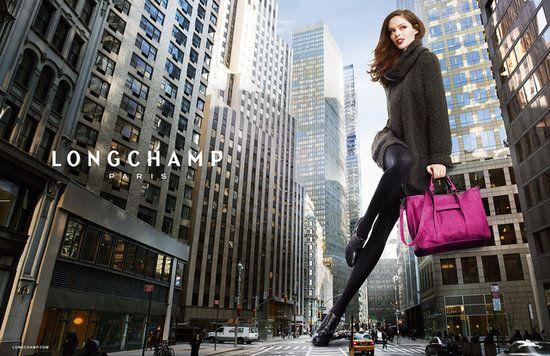 Longchamp Fall 2013 Ad Campaign. Coco Rocha.