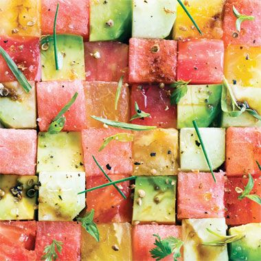 Tomato and Watermelon Salad Recipe at Epicurious.com