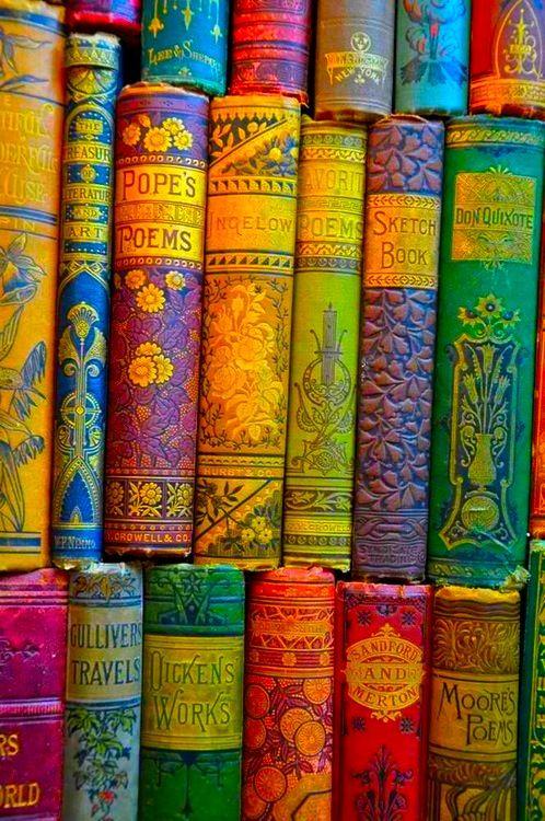 Libri colorati d'epoca