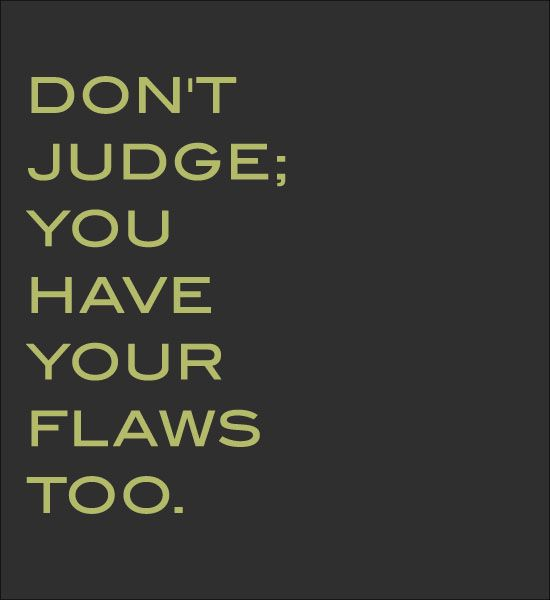 Don't Judge -- <3 this