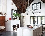 A barn kitchen with
