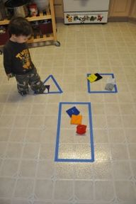 Another tape shapes activity.  Great Idea!