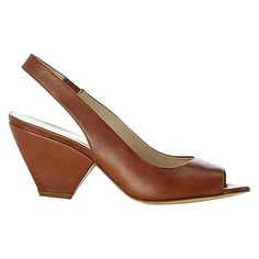 Hobbs Macy Leather Slingback Sandals Online at johnlewis.com