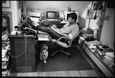 Stephen King at work #writers #workspace #stephenking