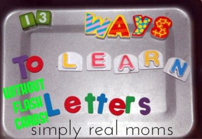 13 ways to learn letters by simply real moms