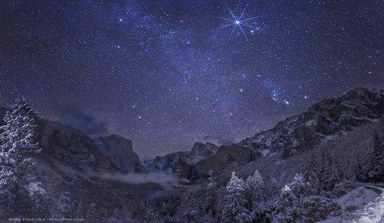 Yosemite Winter Night - unfathomable beauty. See a larger version here: http://apod.nasa.gov/apod/ap121225.html