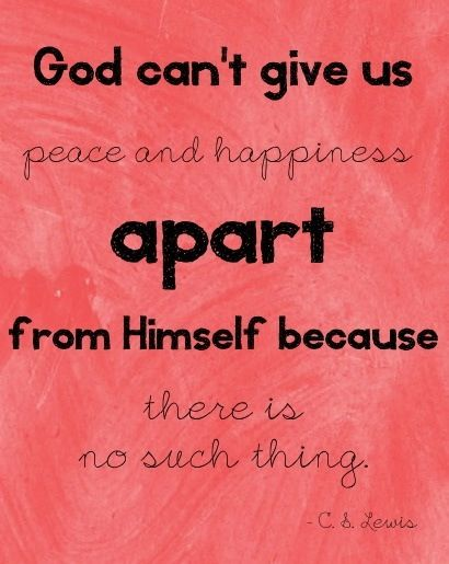 God is our peace and happiness.  www.crosswounds.com