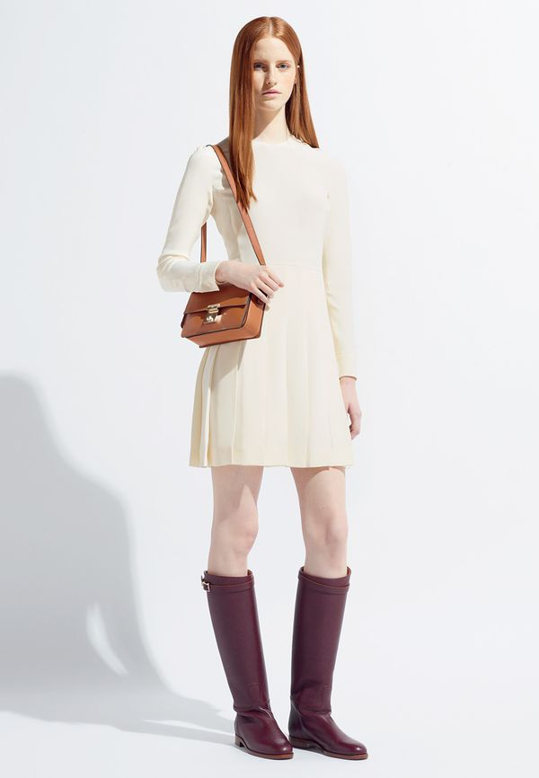 Valentino Resort 2014 white dress boots