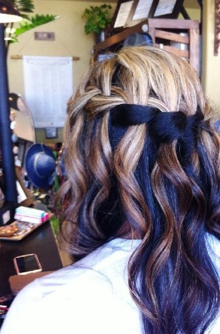 all done up in a waterfall braid