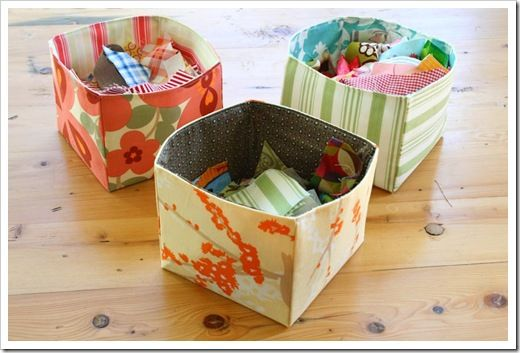 Tutorial - Fabric Scrap Basket : The Sometimes Crafter