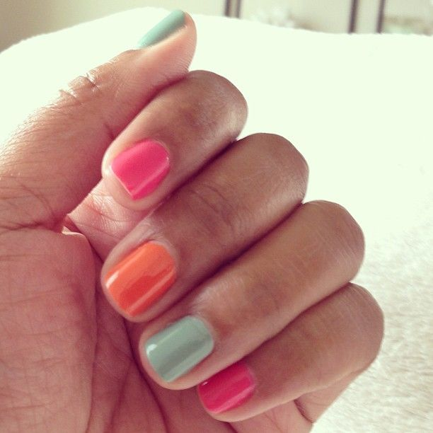 summer manicure #maraboudesign