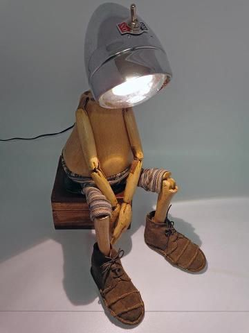 Lamp and puppet