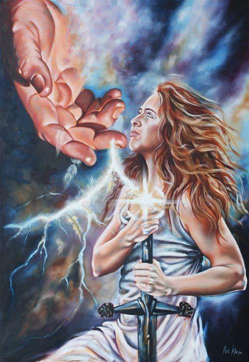 Prophetic oil paintings : The 7 Spirits of God series : The Spirit of Might. www.artofkleyn.com