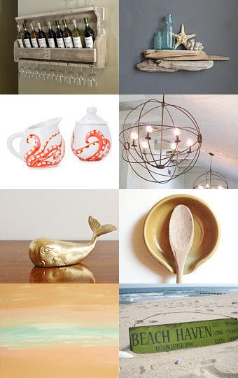 Shore Inspired Home Decoration Treasury List by Teal Bliss Jewelry
