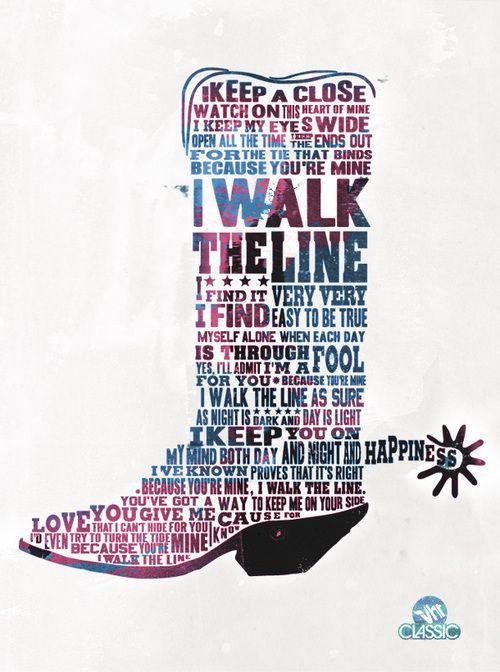 "Johnny Cash, ""Walk the Line"""