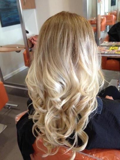 blonde ombre curls