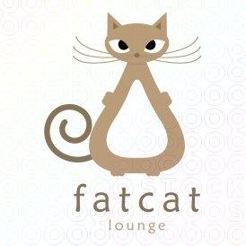 Fat Cat Logo logo