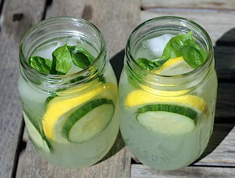 Cucumber Lemonade with Basil