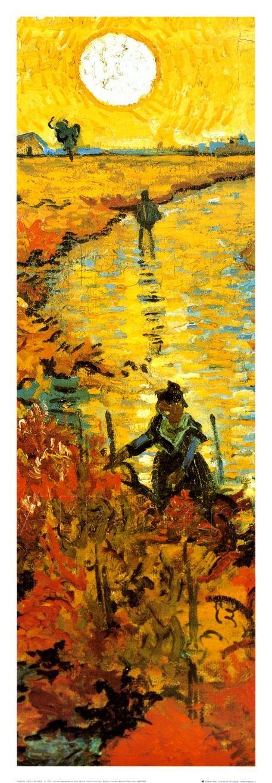 Il vigneto rosso a Arles, c.1888 di Vincent van Gogh