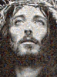 """Jesus Christ"" HUGE Mosaic Collage of Jesus Photos"