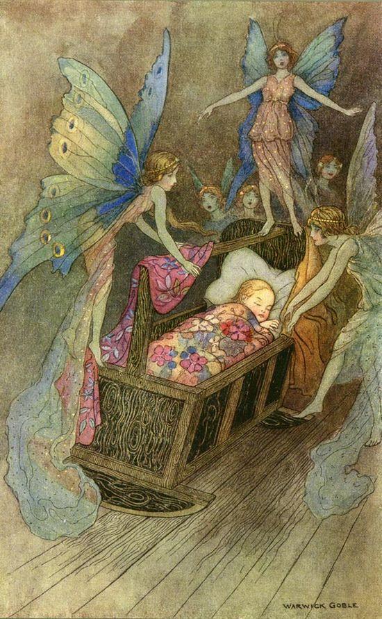 fairies around a child's bed