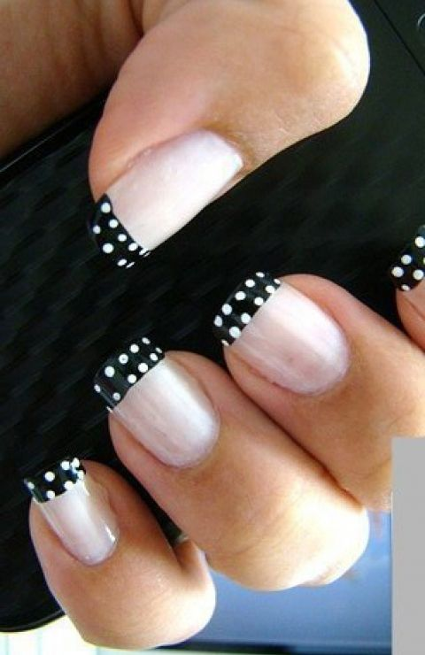 Nail Fashion Trends | Nail Art Trend: Black & White Manicure | FashionBased | Fashion Based