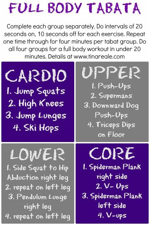 Full Body Tabata Workout Tina Reale