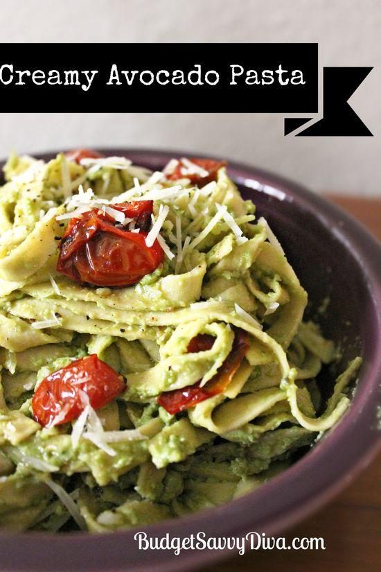 Creamy Avocado Pasta Recipe | Budget Savvy Diva