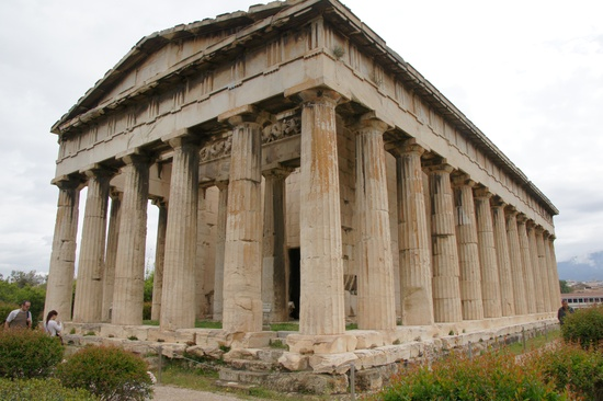 Temple of Hephaistos - Athens - consturcted in 449 B.C. (photo by Peggy Mooney)