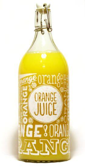 Orange juice packaging by Dagný Lilja Snorradóttir.