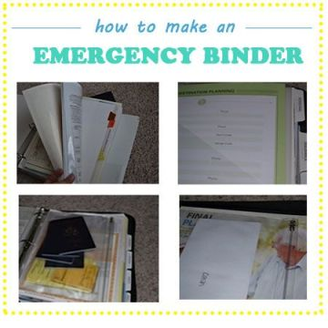 Family Emergency Binder ~ Mom with a Prep {blog}