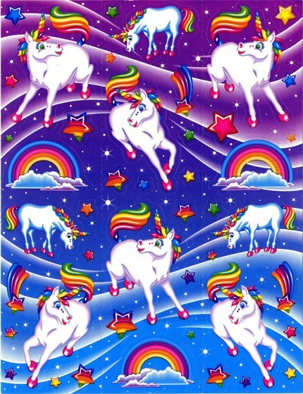 lisa frank unicorn stickers