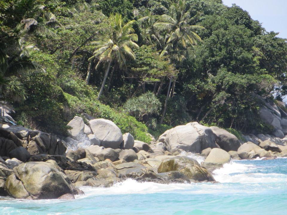 Ansicht Ende Der Karon Bucht Hotel Horizon Karon Beach