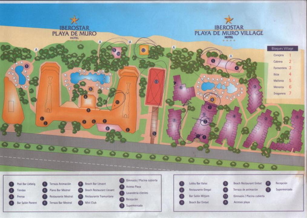 Plan Der Hotelanlage Iberostar Playa De Muro Village