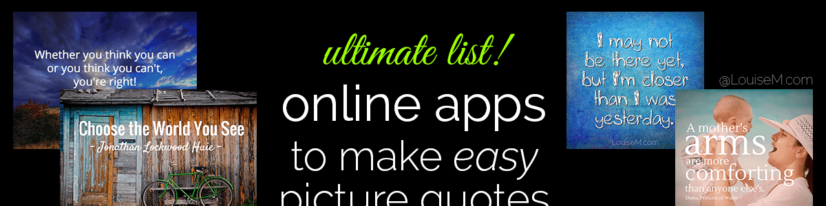 Headline for EASY Ways to Make Picture Quotes Online