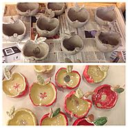 Apple Pinch Pots