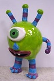 Creative Ceramic Pinch Pot Ideas & Lessons | Artsonia Art Exhibit : Ceramic Monster pinch pot