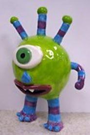 Artsonia Art Exhibit : Ceramic Monster pinch pot