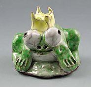Clay Frog Princes Pinch Pots